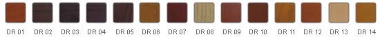Kolorystyka wykończeń w drewnie